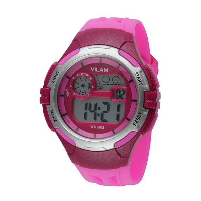 Vilam Kids Sport Watch Wrist Watch Fashion Watch Digital Water Resistant Water Proof Led Plastic Band Stripe Vintage Heart Shape Candy 5346164 2020 21 84