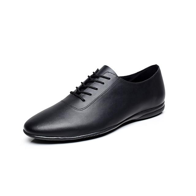 Voor heren Jazz dansschoenen Danssneaker Platte schoenen Gestrikt lint Platte hak Zwart Elastisch