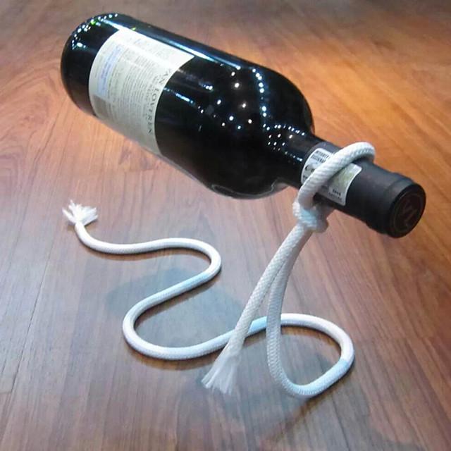 suporte de garrafa mágica do suporte da garrafa da cremalheira do vinho da corda de flutuação