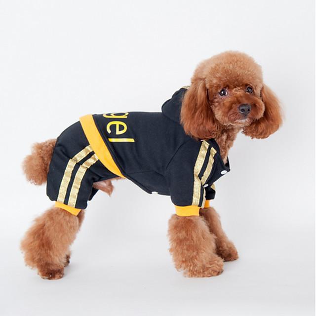 كلب هوديس ملابس الجرو مطبوعة بأحرف وأرقام كاجوال / يومي الرياضات الشتاء ملابس الكلاب ملابس الجرو ملابس الكلب أسود زهري كوستيوم للفتاة والفتى الكلب قطن S M L XL XXL