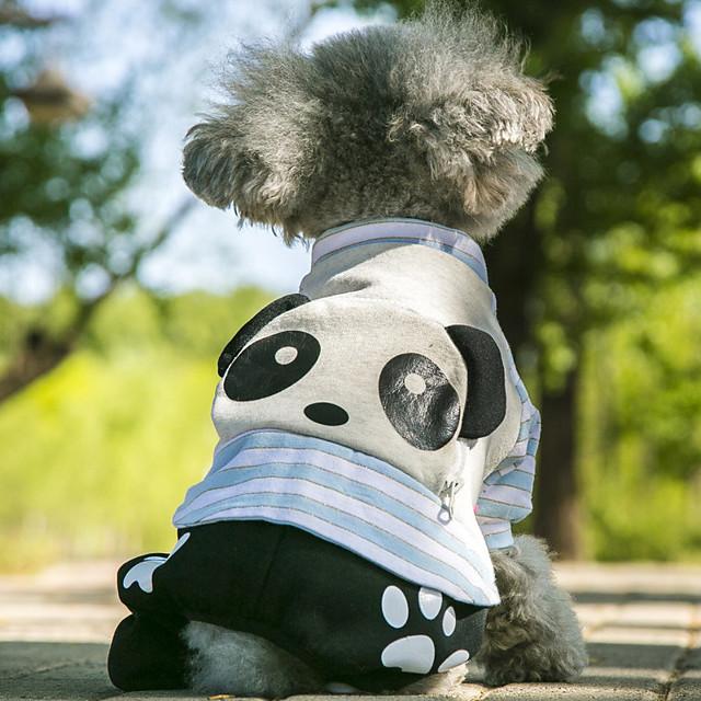 Собаки Плащи Толстовка Комбинезоны Одежда для собак Милые На каждый день Животный принт Оранжевый Розовый Синий