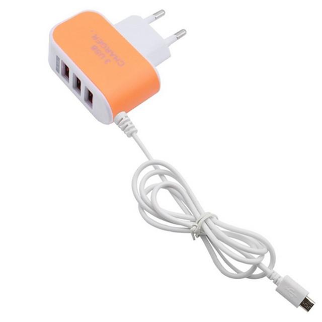 Зарядное устройство для дома / Портативное зарядное устройство Зарядное устройство USB Евро стандарт Быстрая зарядка / Несколько портов 3 USB порта 3.1 A для