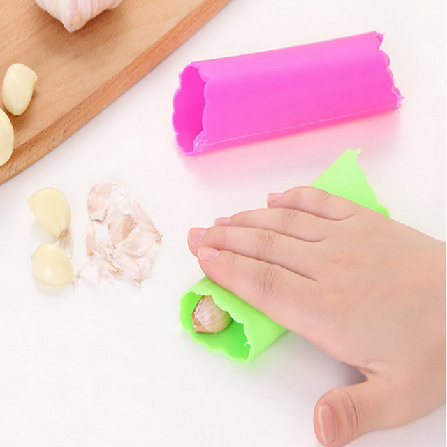 Garlic Peeler & Grater For Vegetable Plastic High Quality Eco-Friendly Creative Kitchen Gadget