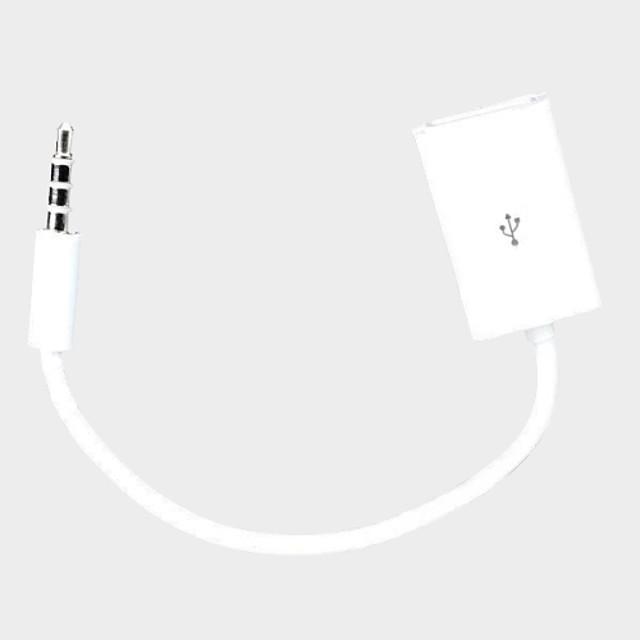 12V USB femeie la 3.5mm plug Car Audio MP3 cablu 15cm