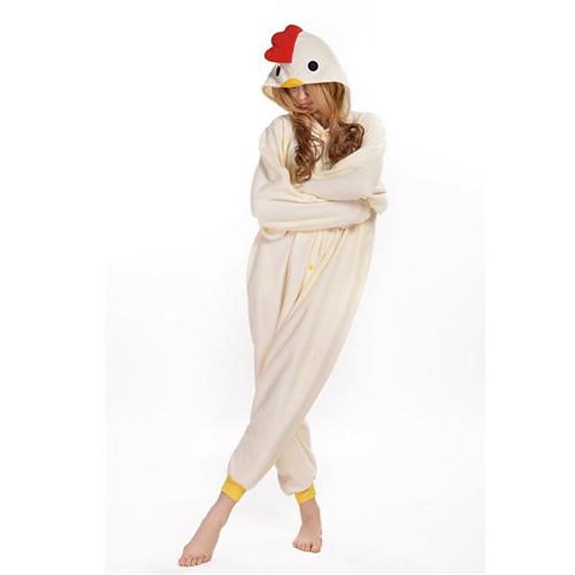 Adulți Pijama Kigurumi Rooster / pui Animal Pijama Întreagă Lână polară Cosplay Pentru Bărbați și femei Sleepwear Pentru Animale Desen animat Festival / Sărbătoare Costume / Leotard / Onesie