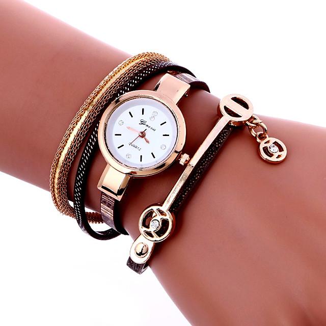 Pentru femei Ceas Brățară Ceas de Mână ceasul cu ceas Quartz femei Cool Analog Alb Negru Rosu / Piele PU Matlasată