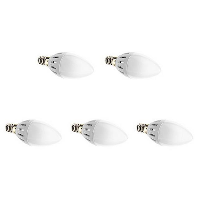 EXUP® 5pcs Becuri LED Lumânare 300 lm E14 12 LED-uri de margele SMD 2835 Alb Cald 220-240 V / 5 bc