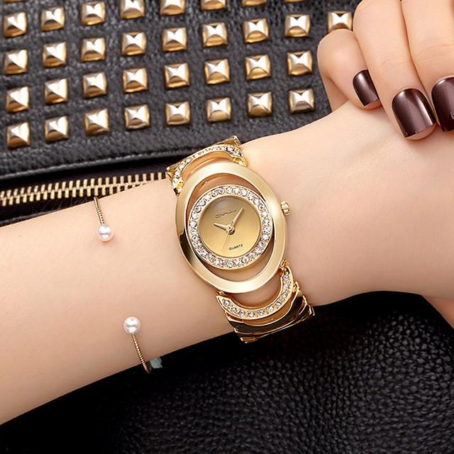 Mulheres Bracele Relógio Relógio de Pulso Relógio de diamante Quartzo senhoras imitação de diamante Analógico Ouro Rose Ouro / Branco Dourado / Dois anos / Dois anos