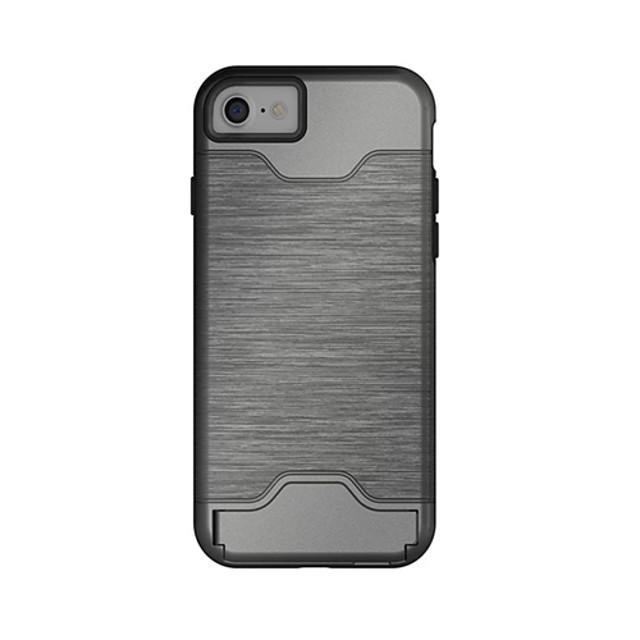 Etui Til Apple iPhone 7 Plus / iPhone 7 / iPhone 6s Plus Kortholder / med stativ Bakdeksel Ensfarget Hard TPU
