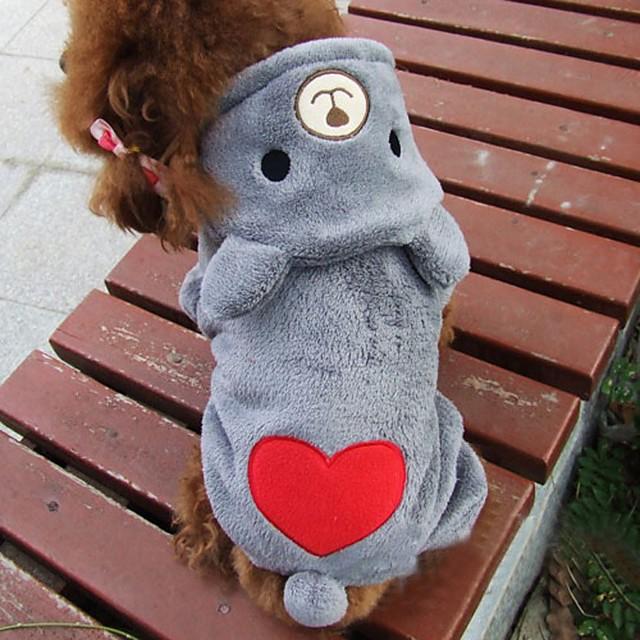חתול כלב תחפושות קפוצ'ונים בגדי גור Bear קוספליי חורף בגדים לכלבים בגדי גור תלבושות לכלבים ורד אפור תחפושות לכלבת ילדה וילד כותנה XS S M L XL XXL