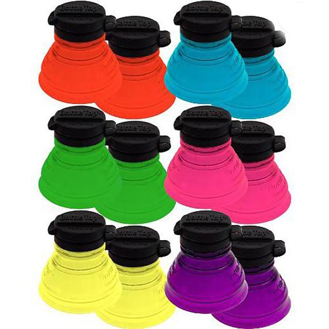 6pcs poate sticla capace de sticla reutilizabile pentru pungi de vânzare cu amănuntul
