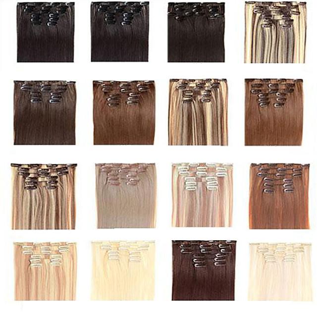 Drept Păr Sintetic 22 inch Extensie de păr Cu Clape Agață În / Pe Pentru femei Zilnic
