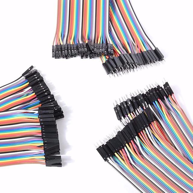 masculin universal la bărbați / de sex masculin la feminin / de sex feminin la cablurile DuPont de sex feminin stabilite pentru Arduino