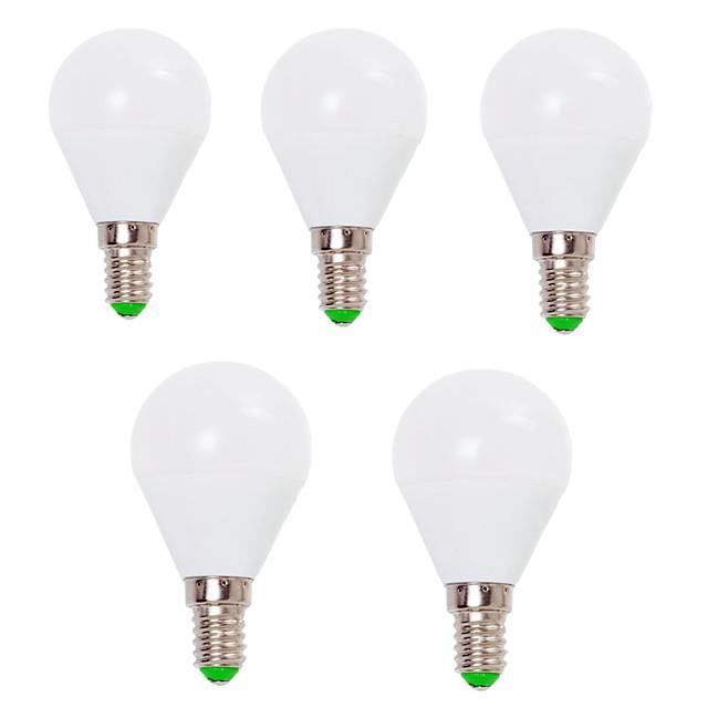 EXUP® 5pcs 7 W Bulb LED Glob 800 lm E14 E26 / E27 G45 12 LED-uri de margele SMD 2835 Decorativ Alb Cald Alb Rece 220-240 V 110-130 V / 5 bc / RoHs / CCC / ERP / LVD