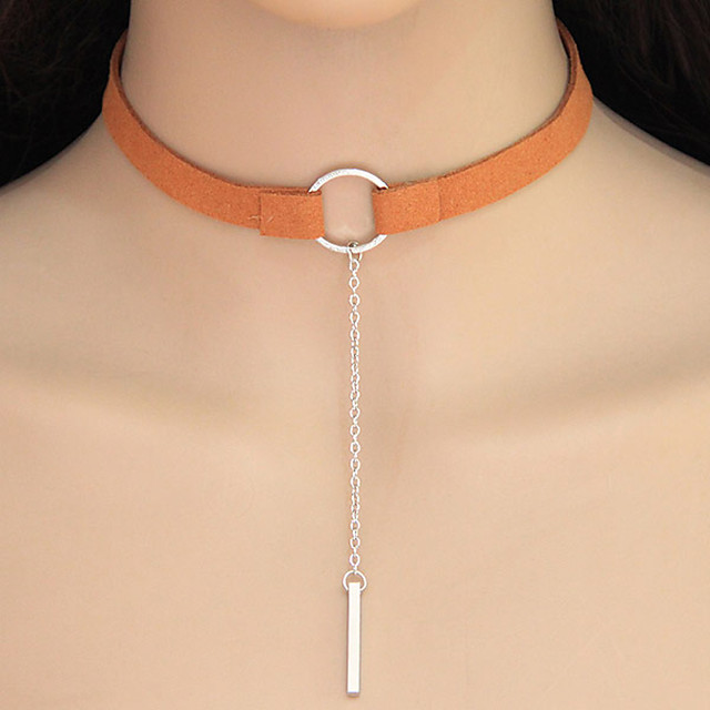 Dame Kort halskæde Tatovering Choker geometrisk Damer Geometrisk Tatovering Europæisk Legering Sølv Orange Gylden Halskæder Smykker Til Afslappet