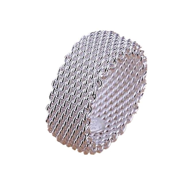 Band Ring Multistratificat Argintiu Plastic Argintiu Iubire femei Multistratificat / Pentru femei