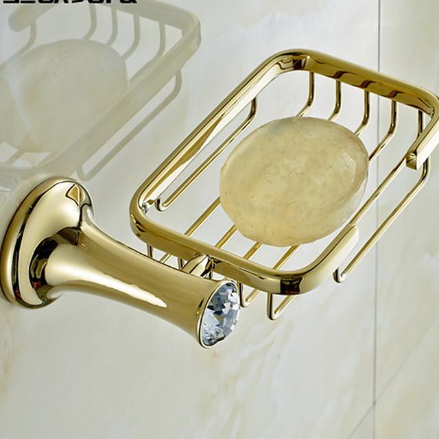 Vesela și săpun Titularii Contemporan Alamă / Cristal 1 piesă - Hotel baie