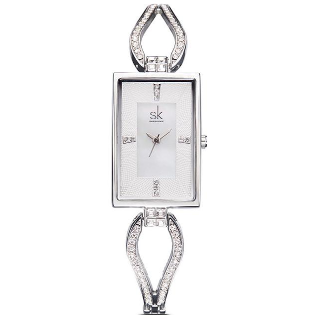 SK Dames Modieus horloge Square Watch Kwarts Dames / Analoog Goud Rose Zilver
