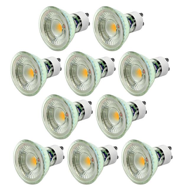 10 pièces 5 W Spot LED 550-650 lm GU10 1 Perles LED COB Intensité Réglable Décorative Blanc Chaud Blanc Froid 220-240 V