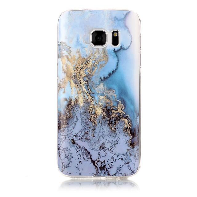 Кейс для Назначение SSamsung Galaxy S7 edge / S7 / S6 edge IMD / С узором Кейс на заднюю панель Мрамор Мягкий ТПУ