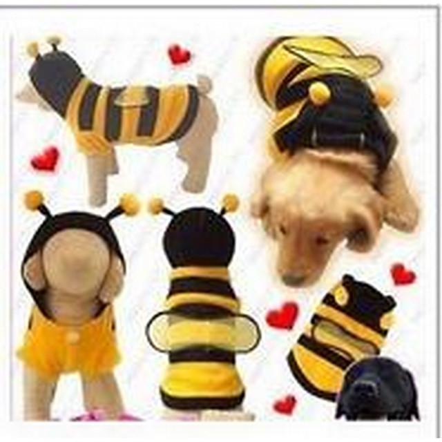 Кошка Собака Плащи Одежда для щенков Однотонный на открытом воздухе Зима Одежда для собак Одежда для щенков Одежда Для Собак Желтый Костюм для девочки и мальчика-собаки Хлопок XXS XS S M L XL