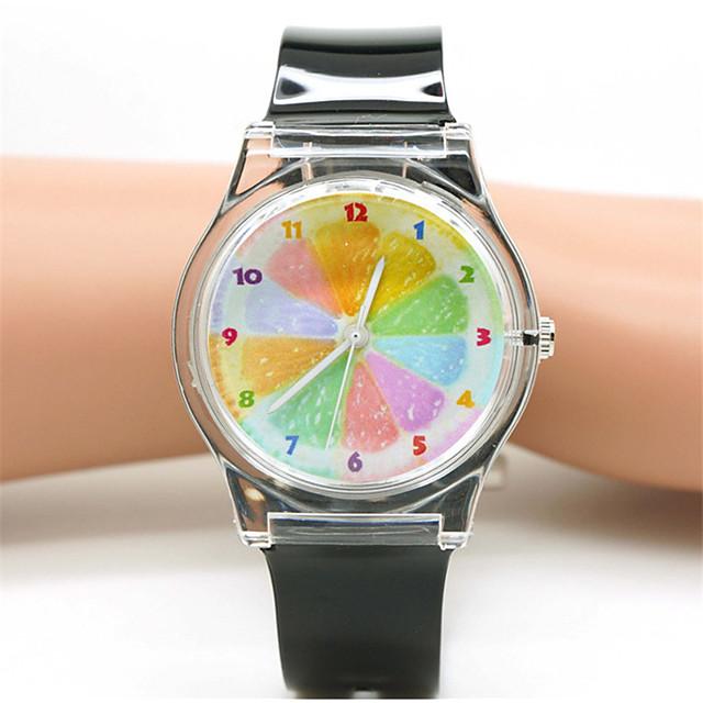 Dames Modieus horloge Kwarts Informeel Analoog Arm Groen Transparant Wit