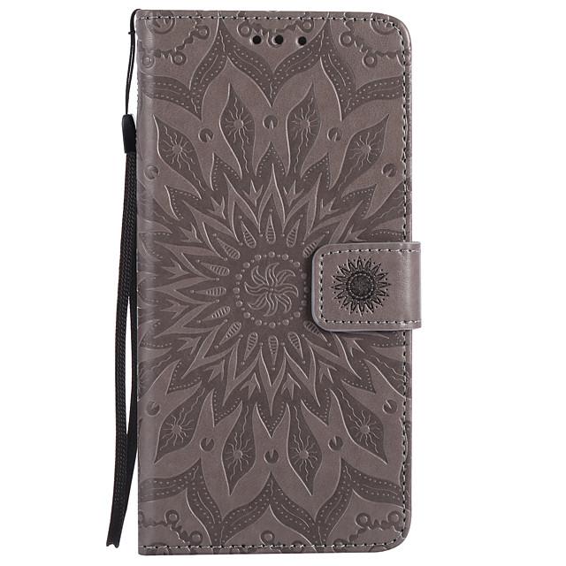 téléphone Coque Pour Apple Coque Intégrale Étui en cuir Wallet iPhone 12 Pro Max 11 SE 2020 X XR XS Max 8 7 6 Portefeuille Porte Carte Avec Support Mandala Fleur Dur faux cuir