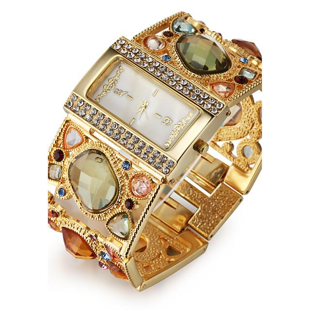 Pentru femei Ceasuri de lux Ceas Brățară Diamond Watch Quartz femei imitație de diamant Auriu Analog - Negru Auriu Un an Durată de Viaţă Baterie / Japoneză / Japoneză / SSUO SR626SW