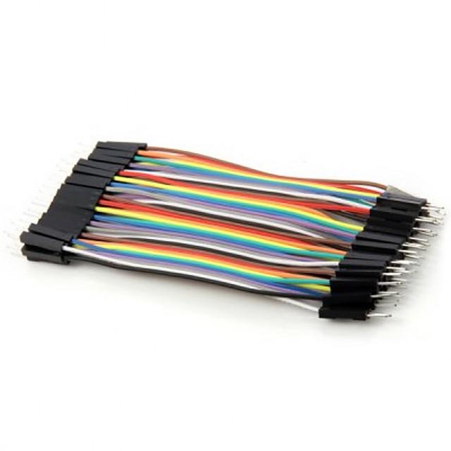 40pin pratique mâle coloré diy fil de câble mâle dupont pour arduino (10cm)