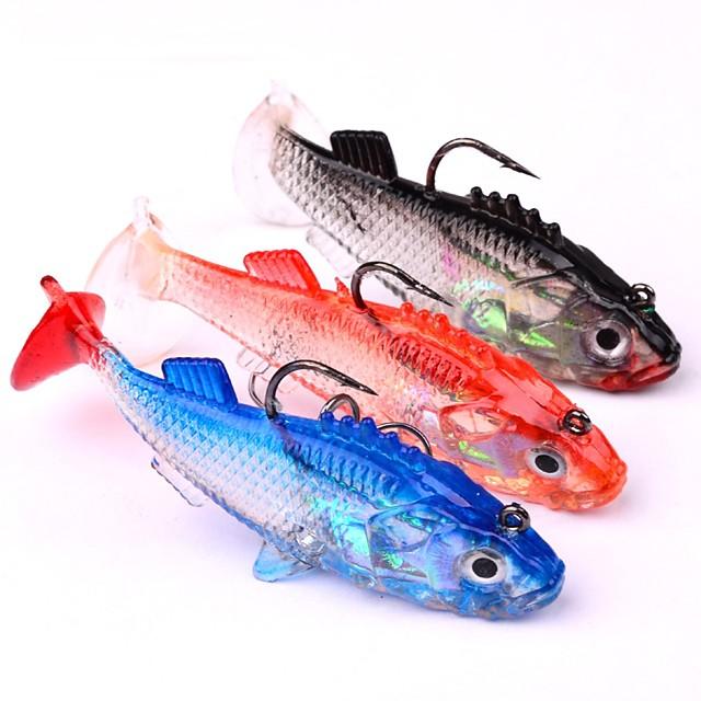 3 pcs ルアー ソフトベイト ジグ Jig Head シンキング Bass マス パイク 海釣り ベイトキャスティング スピニング ソフトプラスチック リード シリコン / ジギング / 川釣り / バス釣り / ルアー釣り / 一般的な釣り
