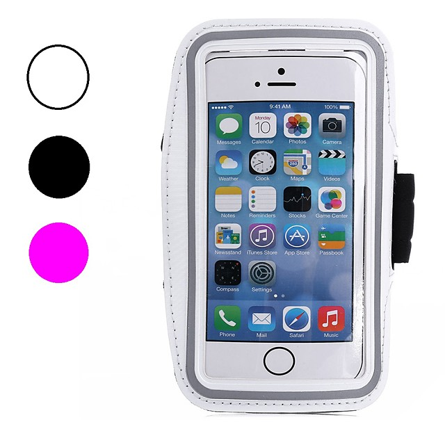 Кейс для Назначение Apple iPhone X / iPhone 8 Pluss / iPhone 8 Защита от пыли / Защита от влаги / с окошком С ремешком на руку Однотонный Мягкий текстильный