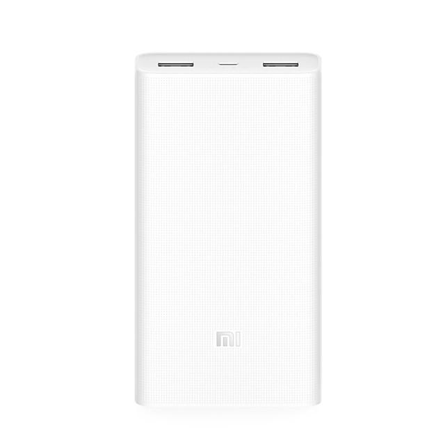 оригинальный xiaomi® банк силы 2 20000mAh портативное зарядное устройство двойной USB аккумулятор для iphone HUAWEI самсунг