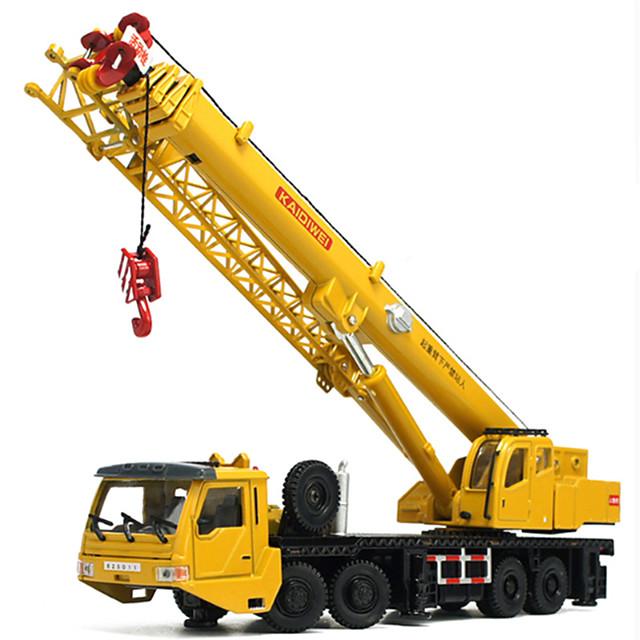 KDW 1:55 Plastique Métal ABS Grue Véhicule de construction de camion jouet Petites Voiture Rétractable Pliage Tour Garçon Fille Enfant Adolescent Jouets de voiture