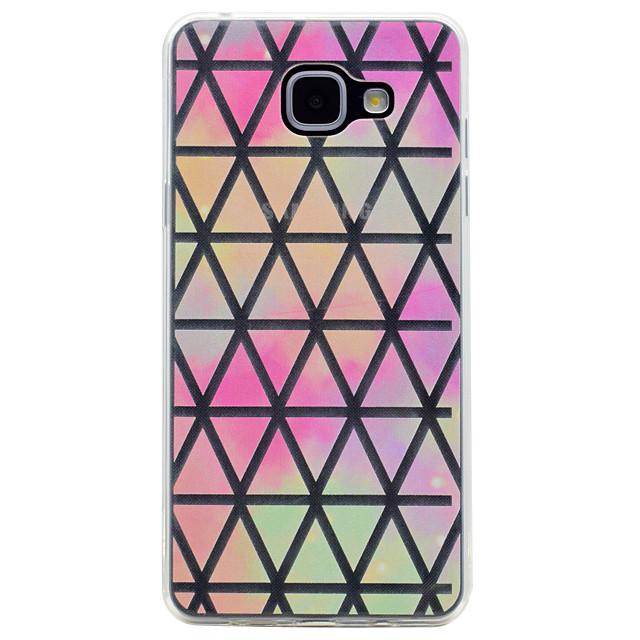 Pouzdro Uyumluluk Samsung Galaxy A3 (2017) / A5 (2017) / A7 (2017) Şeffaf / Temalı Arka Kapak Geometrik Desenli Yumuşak TPU