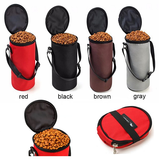 Cat / Dog Bowls & Water Bottles Pet Bowls & Feeding Portable / Foldable Gray / Coffee / Red
