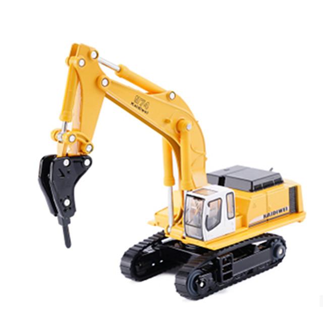 1:87 Excavateur Plate-forme de forage Véhicule de construction de camion jouet Véhicules en Métal Véhicules à Friction Arrière Simulation Automatique Enfant Jouets de voiture