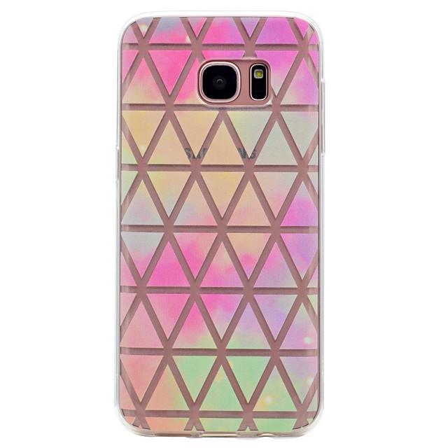 Pouzdro Uyumluluk Samsung Galaxy S8 Plus / S8 Şeffaf / Temalı Arka Kapak Geometrik Desenli Yumuşak TPU için S8 Plus / S8 / S7 edge