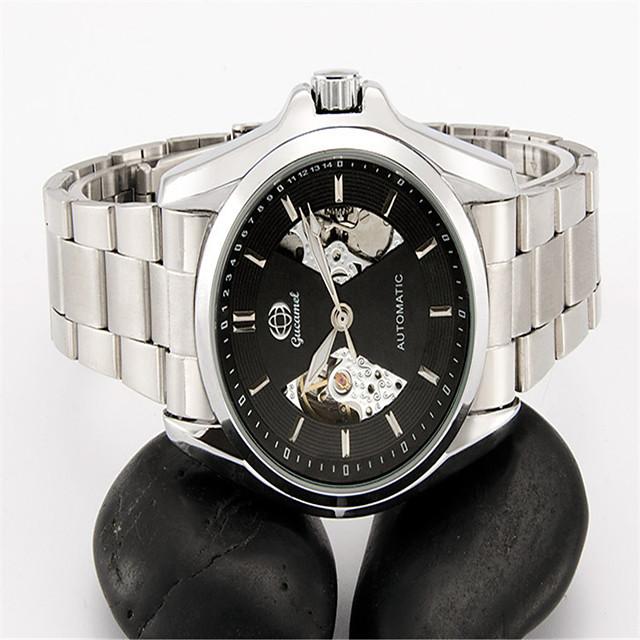 Муж. Модные часы Механические часы С автоподзаводом Аналоговый Черный и золотой Золото / Белый Черный / Серебристый / Нержавеющая сталь