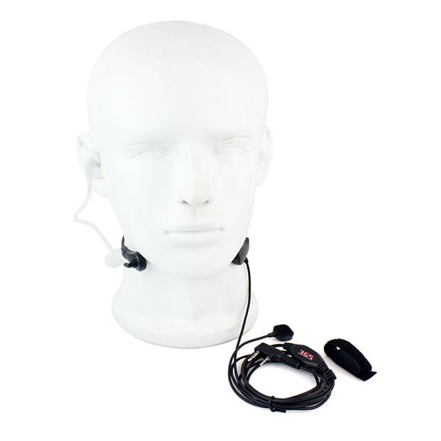 gât mic ptt căști walkie talkie ascunse tub acustic pentru baofeng 365 wanhua tyt hyt