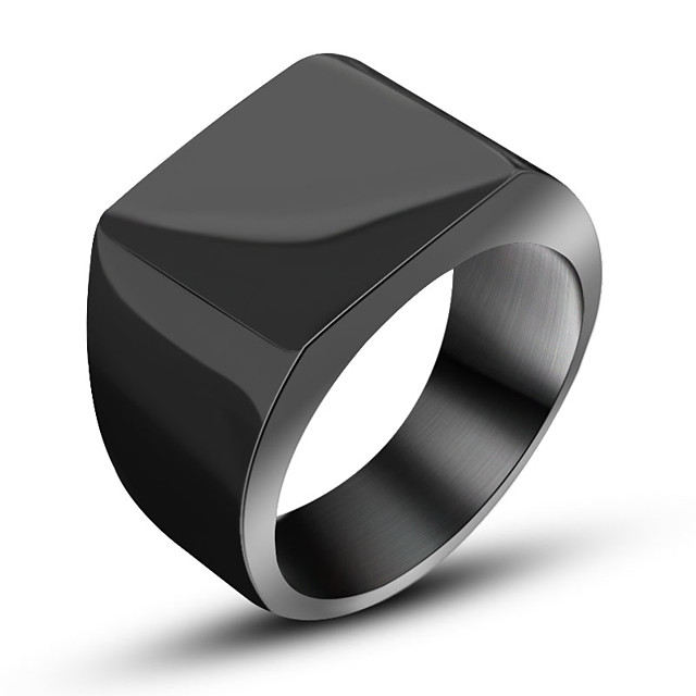 Inel Negru Argintiu Oțel titan Oțel Tungsten Euramerican Bijuterii inițială Inginerie 7 8 9 10 11 / Bărbați