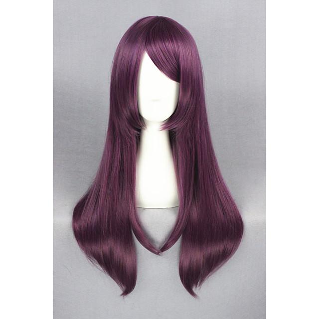 Perruque de cosplay Perruque Synthétique Droit Droite Perruque Moyen Violet Cheveux Synthétiques Violet