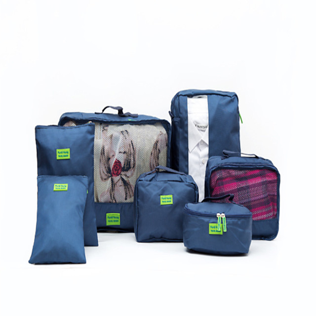 7 kom Organizator putovanja Organizer putne torbe Velika zapremnina Vodootporno Prijenosno Putna kutija Najlon Za Putovanje Odjeća Cipele / Izdržljivost