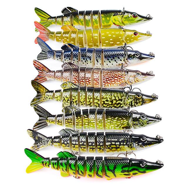 2 pcs Рыболовная приманка Многосуставные воблеры 8.0 Тонущие Bass Форель щука Морское рыболовство