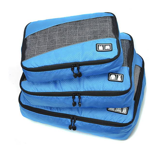 3 komada Putna torba Organizator putovanja Organizer putne torbe Velika zapremnina Prijenosno Može se sklopiti Putna kutija Tekstil Poliester Tkanina mrežice Za Putovanje Odjeća / Izdržljivost
