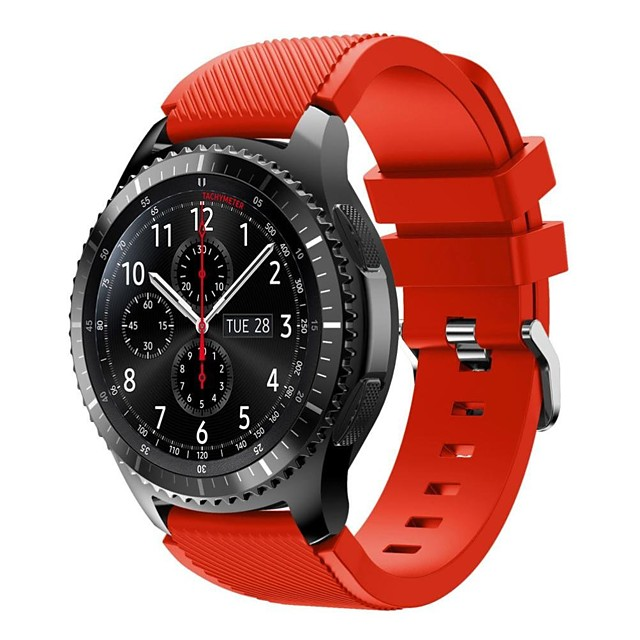 Watch Band for Gear S3 Frontier Samsung Galaxy Sport Band Silicone Wrist Strap