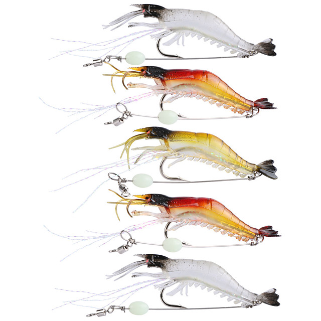 5 pcs ルアー ソフトベイト Jerkbaits エビ フローティング シンキング Bass マス パイク 海釣り フライフィッシング ベイトキャスティング / スピニング / ジギング / 川釣り / 鯉釣り / バス釣り
