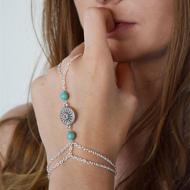 Bracelets Bagues Femme dames Européen Bracelet Bijoux Argent pour Quotidien Décontracté Costumes de cosplay