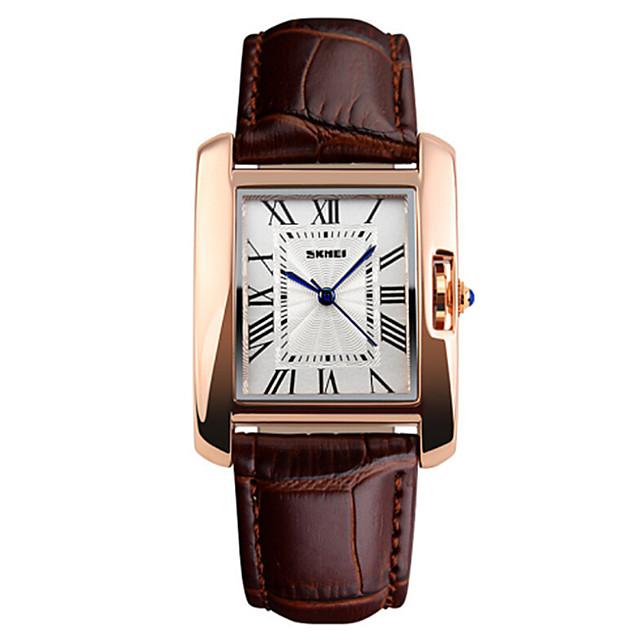 Dames Luxueuze horloges Polshorloge Square Watch Kwarts Elegant Waterbestendig Analoog Zwart Rood Bruin / Twee jaar / Leer / Kalender / Twee jaar / Maxell626