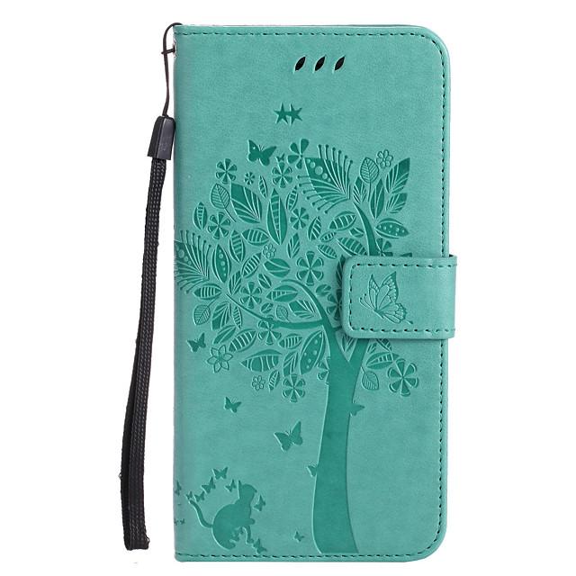 Кейс для Назначение Apple iPhone 11 / iPhone 11 Pro / iPhone 11 Pro Max Кошелек / Бумажник для карт / со стендом Чехол дерево Твердый Кожа PU
