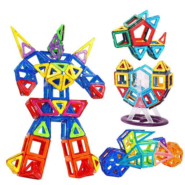 Magnetische blokken Magnetische tegels Bouwblokken Educatief speelgoed 168 pcs Automatisch Robot Constructievoertuig verenigbaar polykarbonaatti Legoing Geschenk Magnetisch Jongens Meisjes Speeltjes